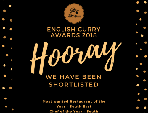 Olive Limes has been shortlisted for the Finals of the English Curry Awards 2018